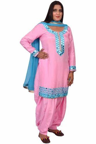 eba17d777f Baby Pink Dupion Silk Designer Salwar Suit, Rs 3300 /piece | ID ...