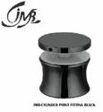 Stainless Steel Black Cylinder Point Fitting For Glass Railing