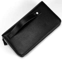 Black PU Leather Business Card Holder
