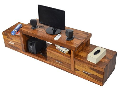 Natural Wooden Tv Unit Cabinet