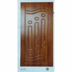 Brown African Teak Wood Door, For Home, Size/Dimension: 7 Feet (height)
