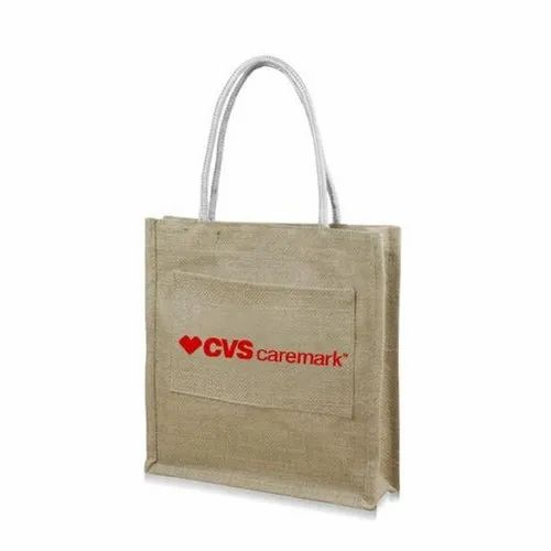 Front Pouch Promotional Jute Bag