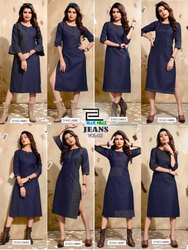 Denim Fancy Kurti