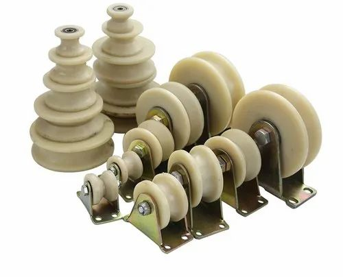 White Nylon Gears and Pulleys