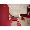 Parallel Pink Kitchen