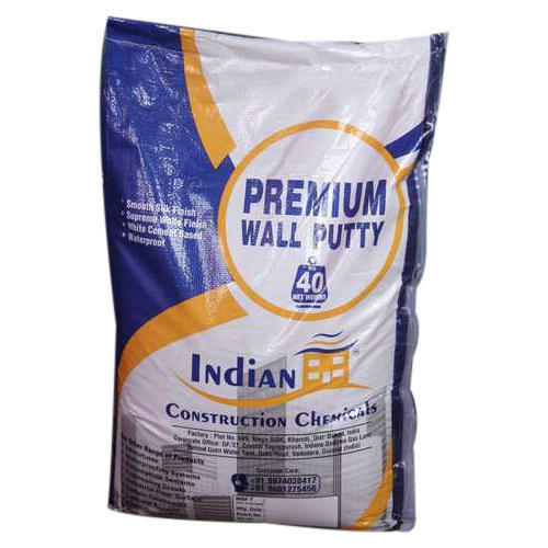 Indian Premium Waterproof Wall Putty, Packaging: 40 kg