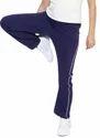 Blue Cotton/linen Solid Cotton Joggers