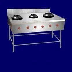 Lpg Gas Chinese Three Burner, For Kitchen