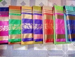 Wedding Wear Cotton Silk Saree With Blouse