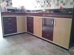 L Shape Dual Color Modular Kitchen