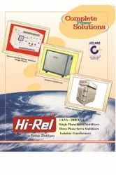 5 KVA HI-REL Make Air Cooled Servo Stabilizer