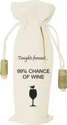 Canvas Printed Wine Bag