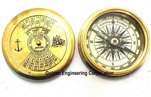 "Vintage Mini Pocket Compasses 2/"" Gift 100/% Genuine gift Brass Handheld COMPASS"