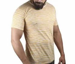 Cotton Half sleeve MENS PRINTED ROUND NECK TSHIRT
