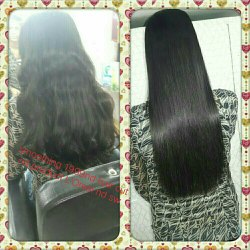 Female Hair rebonding smoothening