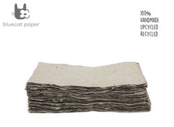 Handmade Paper, Fine-Cut, A4 Size  - Light Coffee Brown