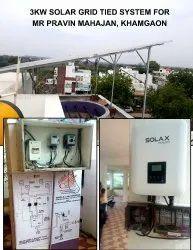 Solar Power Plant On Tin Shade 35kw Solar Grid Tied