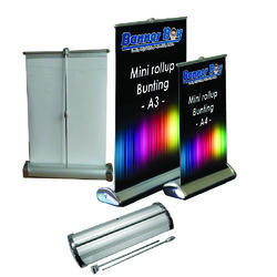 Mini Roll Up Banner Stand, Size: A4 & A3