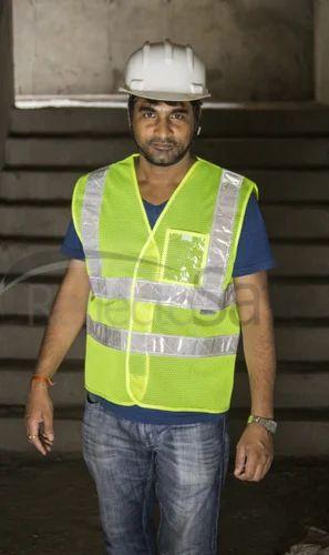 Reflective High Visibility Safety Ramp Jacket / Hi Performance Vest With 3M Scotchlite Tape