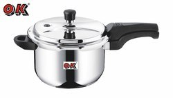 OK Stainless Steel Outer Lid 3.0 Ltr Pressure Cooker, for Home