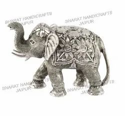 Silver Plated Elephant