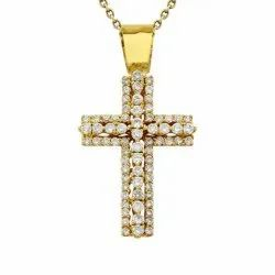 Real Diamond Cross Pendant