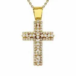 Real Diamond Cross Pendant
