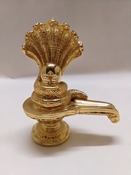 Golden Color Shivling Statue