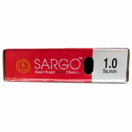 Sargo Copper (Conductor Material) 1.0 Sq Mm Electrical Wire, Crossectional Size: 1 Sqmm., for House Wiring