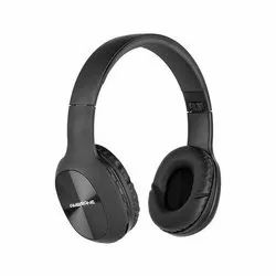 Black Ambrane Over The Ear Wireless Headphones with FM, Mic & TF Card Support