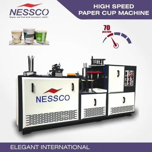 NESSCO Fully Auto Paper Cup Machine, 3.5 Kw