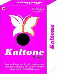Ferrous Fumerate Protein Hydrolysate Calcium Gluconate Folic Acid Vitamins and Minerals Softgel Caps
