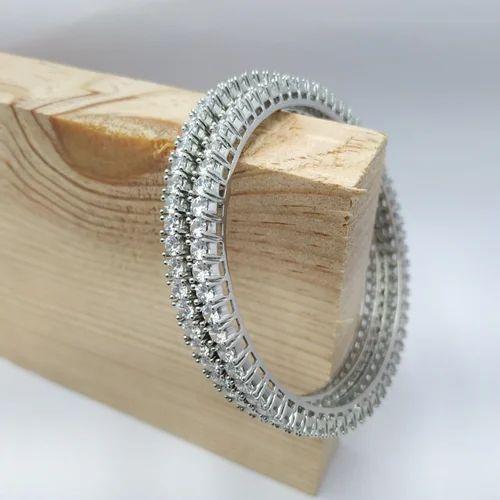 Cz Stones 925 Sterling Silver Bangle