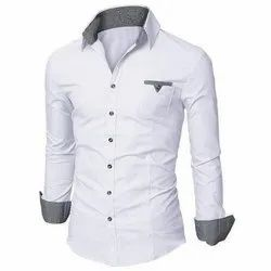 Full Sleeves White Readymade Shirt, Size: S,Xl