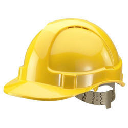 PVC Yellow Industrial Safety Helmet, Weight: Approx 250grams, Size: 12inches to 18inches