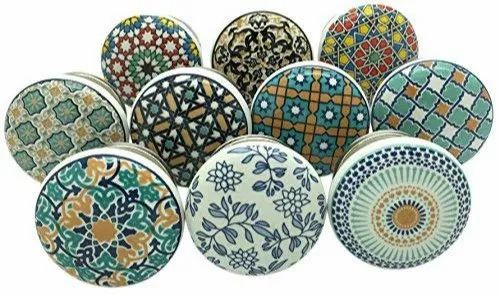 Hand Painted Ceramic Knobs Drawer, Hand Painted Porcelain Cabinet Knobs