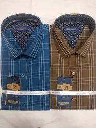 Cotton Checks Shirt, Size: M To Xxl