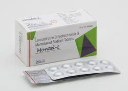 Montelukast Sodium 10 Mg Levocetirizine 5 Mg Tablets