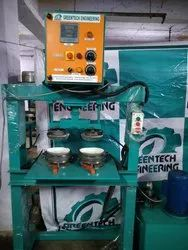 Semi Automatic Double Die Paper Dish Making Machine