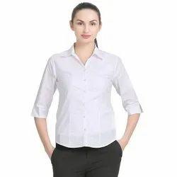 ZX3 White Women''s Ladies Girls Casual Formal Shirt, Size: M - 5XL