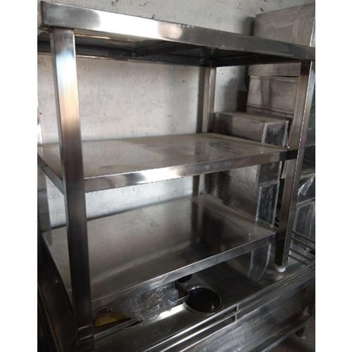 Silver Stainless Steel Kitchen Working Table, Rs 2200 /running feet ...