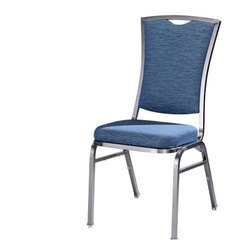 blue Polyester Simple Banquet Chair, For Restaurant