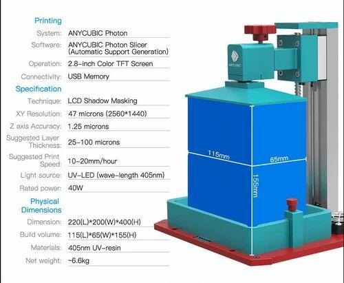 ANYCUBIC Photon SLA 3D Printer Plus Size UV LCD Assembled 2K Screen