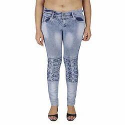 ShutUp Light Blue Ladies Designer Front Button Denim Jeans, 18-30 Years ,Waist Size: 36