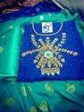Hand Work Chanderi Ladies Dress Material