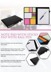 Notepad with Sticky Pad with Ball Pen - Giftana