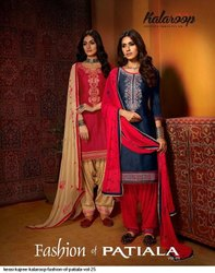 Kessi Group Kajree Fashion Kalaroop Fashion Of Patiala Vol 25 Patiala Suit 10 Pcs