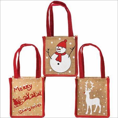 Christmas Bags.Jute Christmas Gift Bag
