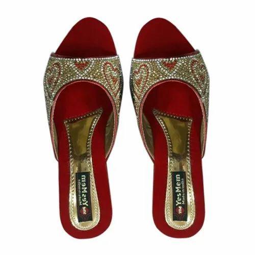 Golden Ladies Wedding Wear Sandal, Size