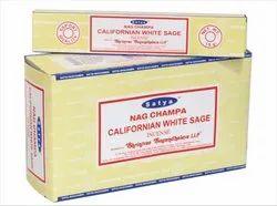 Satya Nag Champa Californian White Sage Incense Sticks